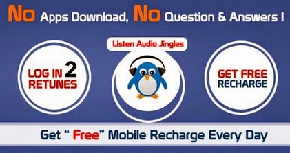 Listen to ad Jingles and get free recharges