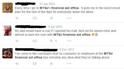 the reasons MTSU financial aid office is really difficult to be called