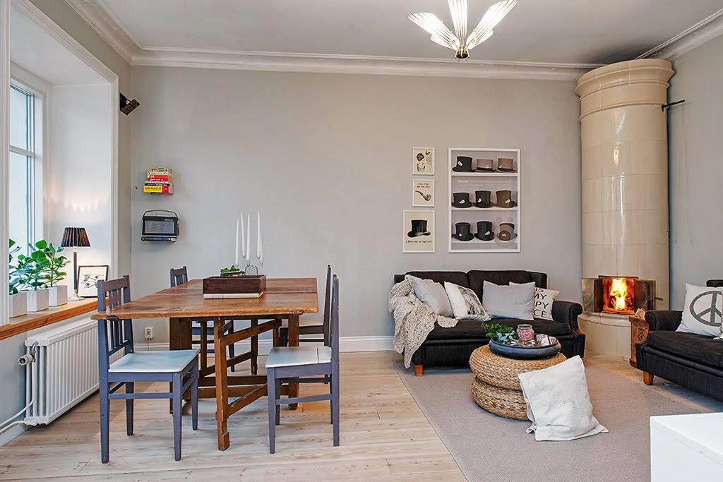 Estilo primaveral low cost en un piso de estilo n rdico for Piso estilo nordico
