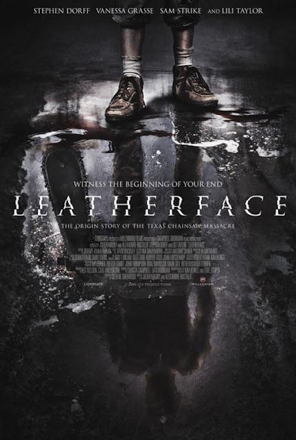 """Poster de """"Leatherface"""" reflete a maldade do vilão de """"O Massacre da Serra Elétrica"""""""