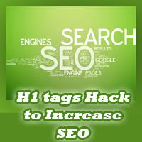 Increase SEO with h1 tag Blogger hack