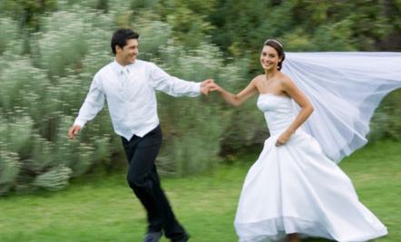 8 Handmade Summer Wedding Dresses - bride and groom happy
