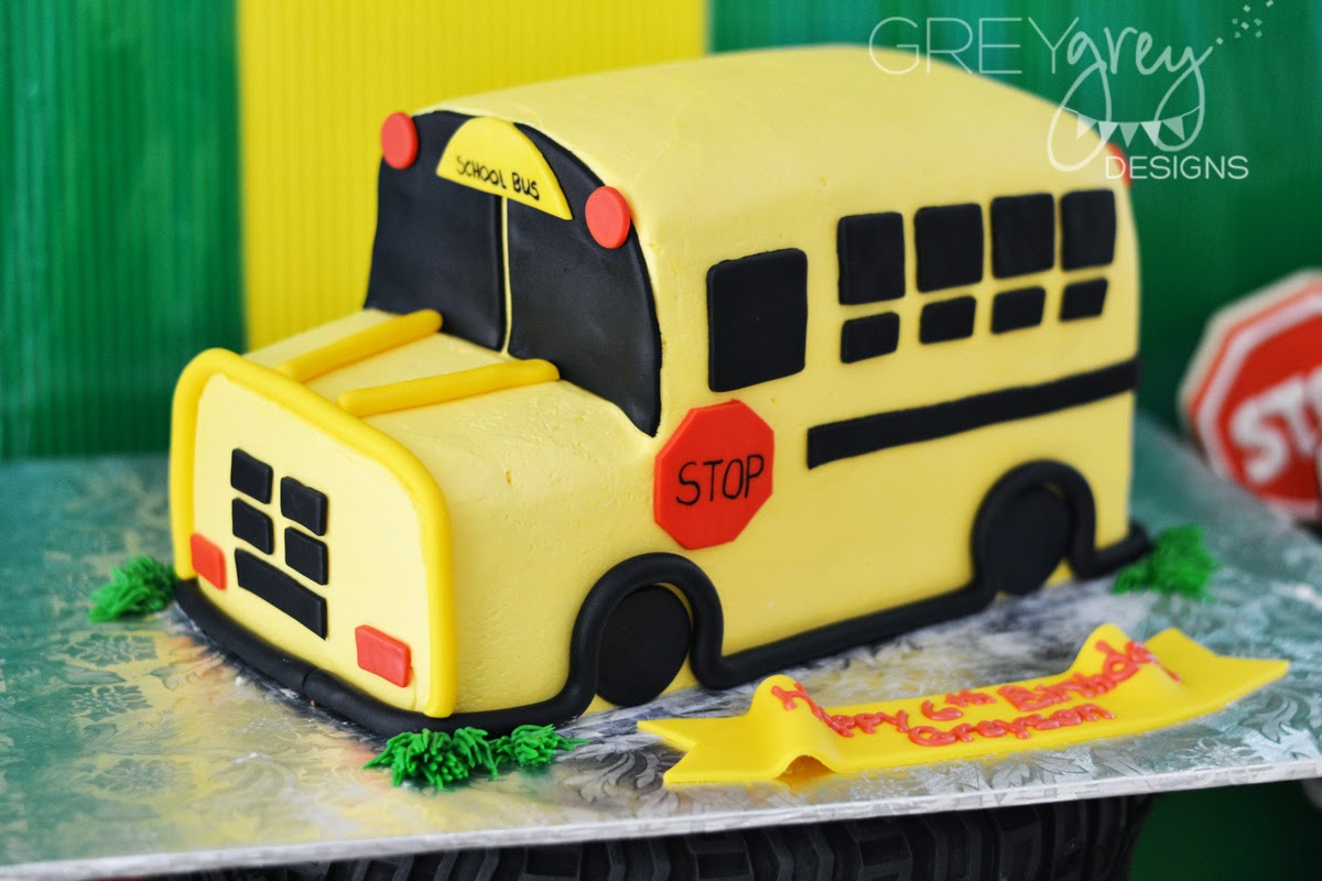 Greygrey Designs My Parties Greysons Wheels On The Bus Birthday