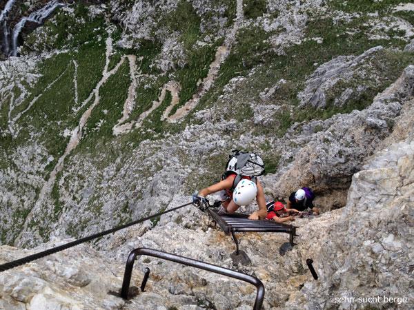 Klettersteig Pisciadu : Sehn sucht berge pisciadù klettersteig
