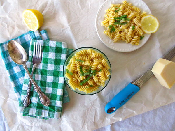 Lemon Cream Pasta-the perfect spring side