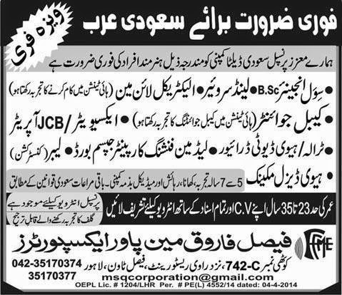 Engineer jobs in Saudi Arabia Express Ads
