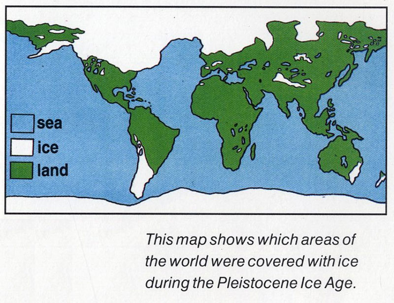 Ice Age For Kids When Was The Last Ice Age What Caused The Ice - Map of how last ice age affected us