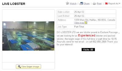kijiji lobster hiring