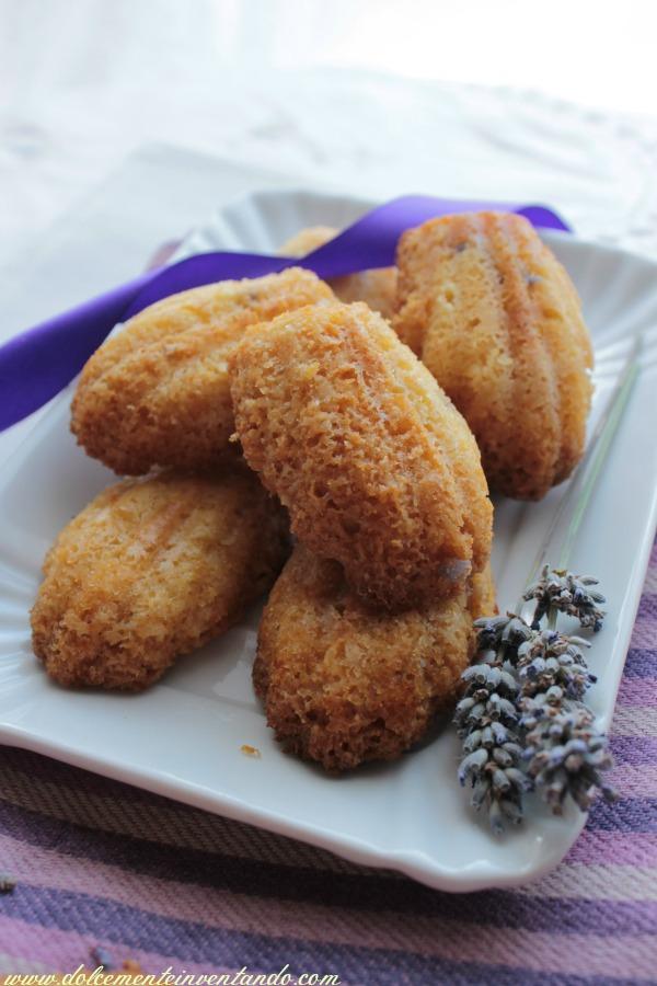 madeleines al cocco e lavanda ( senza zucchero, senza glutine, senza burro, senza lattosio)