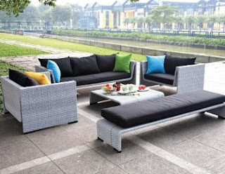 TOSH Furniture Outdoor Gray Sofa Set