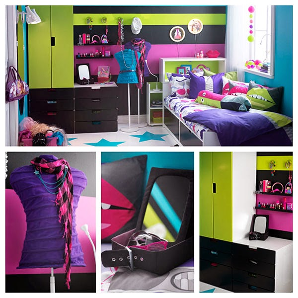 DORMITORIO JUVENIL DECORADO CON COLORES INTENSOS via http://dormitorioinfantil.blogspot.com/