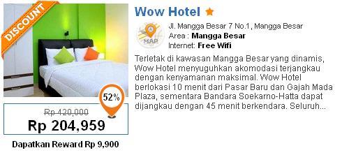 Jumlah Kamar181 Single 0 Double Twin Suite 0Lainnya Wow Hotel Sebuah Yang Nyaman Lengkap Dan Terjangkau Di Mangga Besar Jakarta