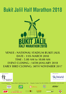 Bukit Jalil Half Marathon 2018 - 11 March 2018