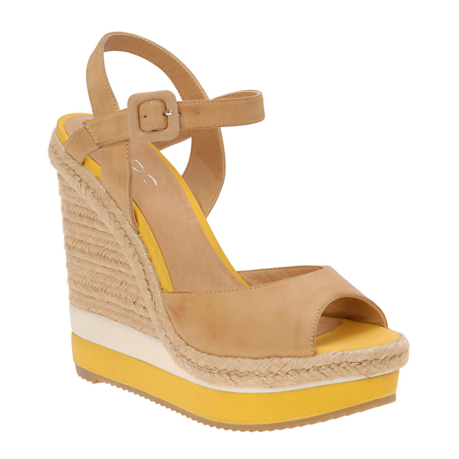 roxana banana shoe of the week aldo dyle wedges