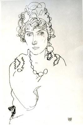 Egon Schiele - crayon,1918.