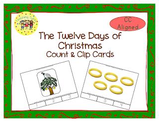 https://www.teacherspayteachers.com/Product/Twelve-Days-of-Christmas-Count-Clip-Cards-1518012