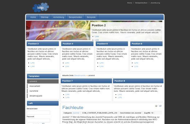 Free Joomla Blue Grey Business Theme Template