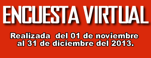 1ra  ENCUESTA VIRTUAL REALIZADA