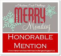 I received a Merry Monday Honorable Mention!