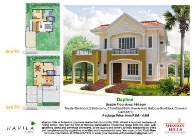 Mission Hills Antipolo | House Model Daphne