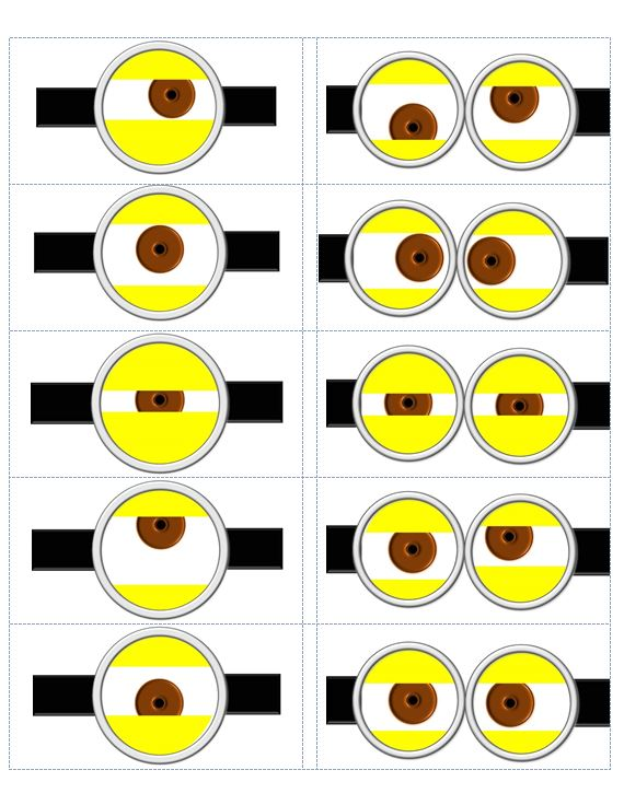 Here is a sheet of 10 different eyes you can use for your bags, cups ...