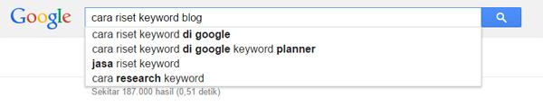 Cara Mudah Riset Keyword dengan Google Sugestion