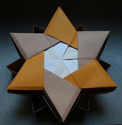 origami maniacs origami 6pointed star box by robin glynn