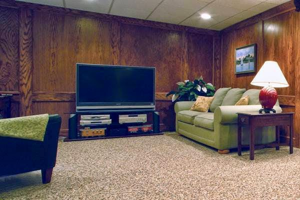 basement stone flooring