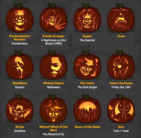 Stellar four geeky pumpkin carving patterns