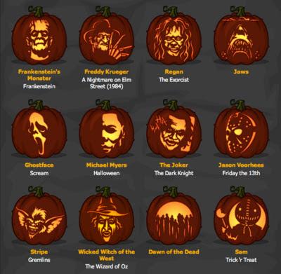 Zombie Printable Pumpkin Carving Patterns