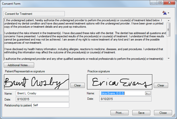 Dentrix Tip Tuesdays: Attaching and Signing Consent Forms for ...