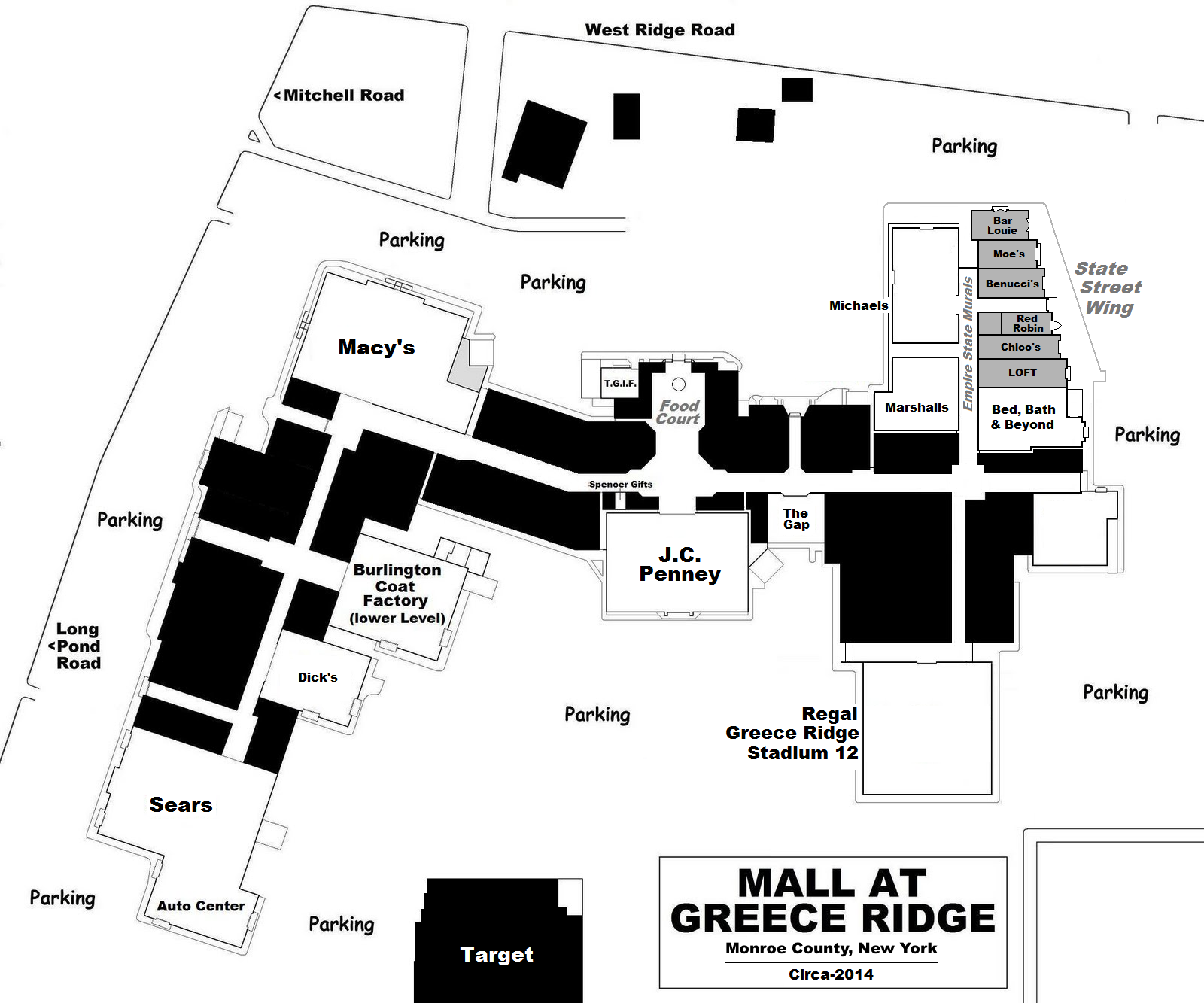 Chicago ridge mall map
