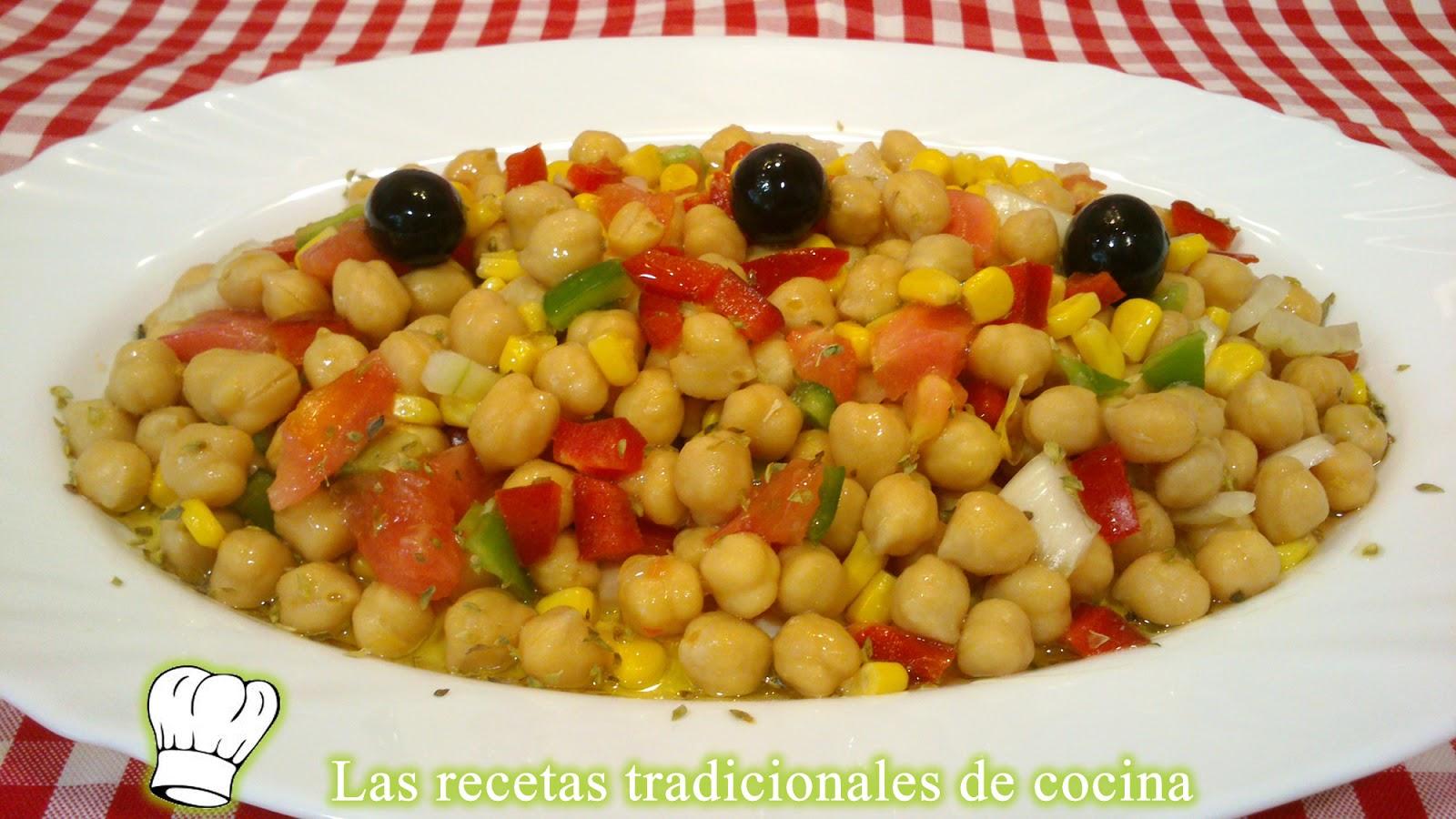 Receta de ensalada de garbanzos recetas de cocina con - Ensalada de garbanzos light ...