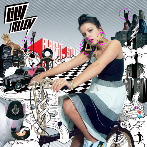 lily allen album cover alright still. This is the cover for