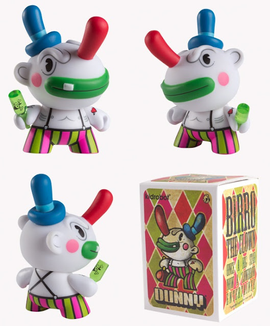 Kidrobot - Birro the Clown 3 Inch Dunny and Packaging by Chauskoskis