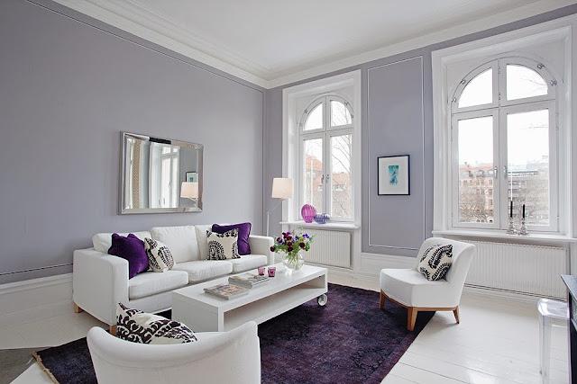 Sala De Estar Cinza E Lilás ~ Construindo Minha Casa Clean Cinza na Decoração!!! Super Tendência