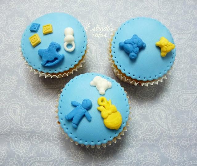 cupcakes para bebe con fondant - 3
