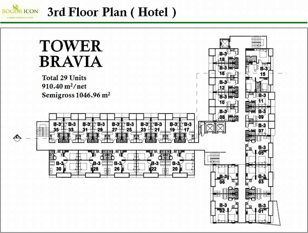 Apartemen bogor icon by best western floor plan for Western floor plans