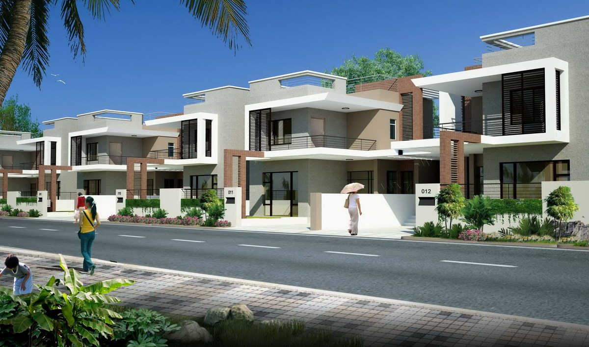 3d architectural visualization bungalows at bhilwara - 3d architectural visualization ...