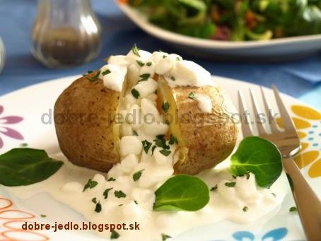 Pečené zemiaky v alobale so syrom Cottage - recepty