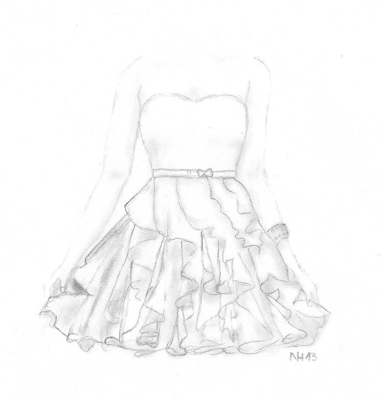 Das buchgelaber gemalt ich und die mode - Kleider zeichnen ...