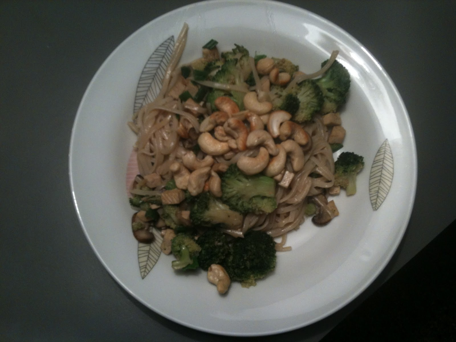 Meal-A-Day: Broccoli Mushroom Tofu Stir-Fry with Pan-Fried Cashews