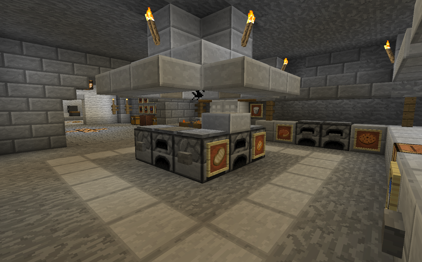 Minecraft projects minecraft kitchen with functional for Kitchen ideas minecraft