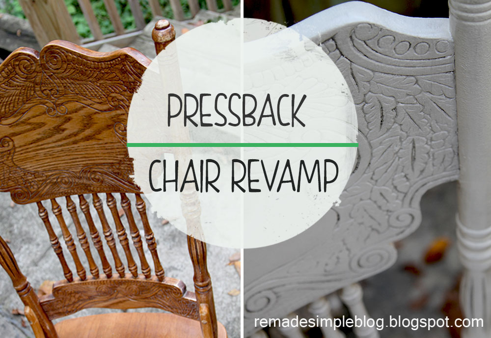 Pressback Chair Revamp - ReMadeSimple: Pressback Chair Revamp