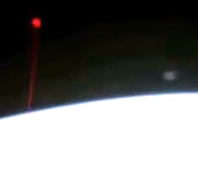 UFO Shoots Beam At Earth Seen By Space Station, UFO Sightings