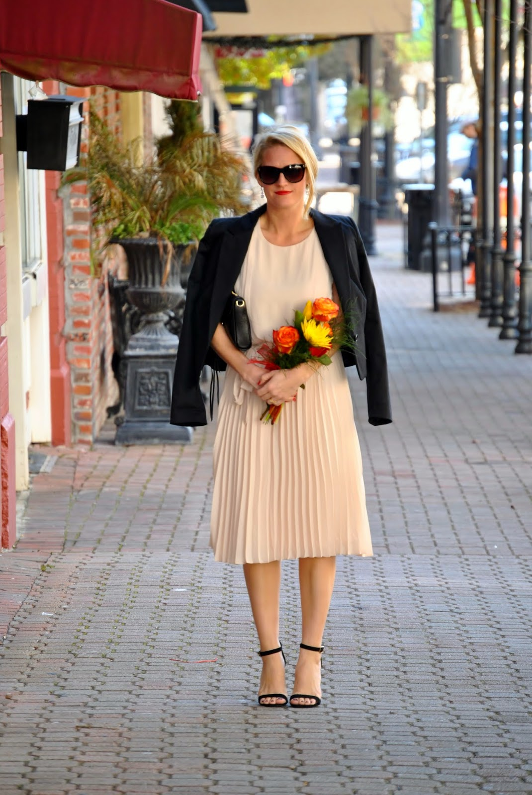 Rebecca Minkoff Mini Mac, Forever 21 Pleated Dress, Valentines Day Date Outfit~Sunshine and Sequins Blog