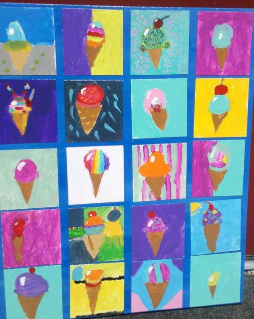 Wayne Thiebaud Ice Cream Paintings