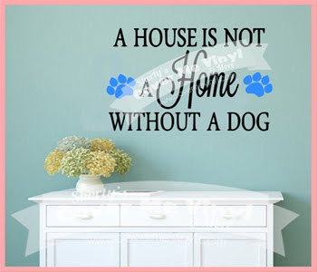 Home Dog Print Paws Wall Decal