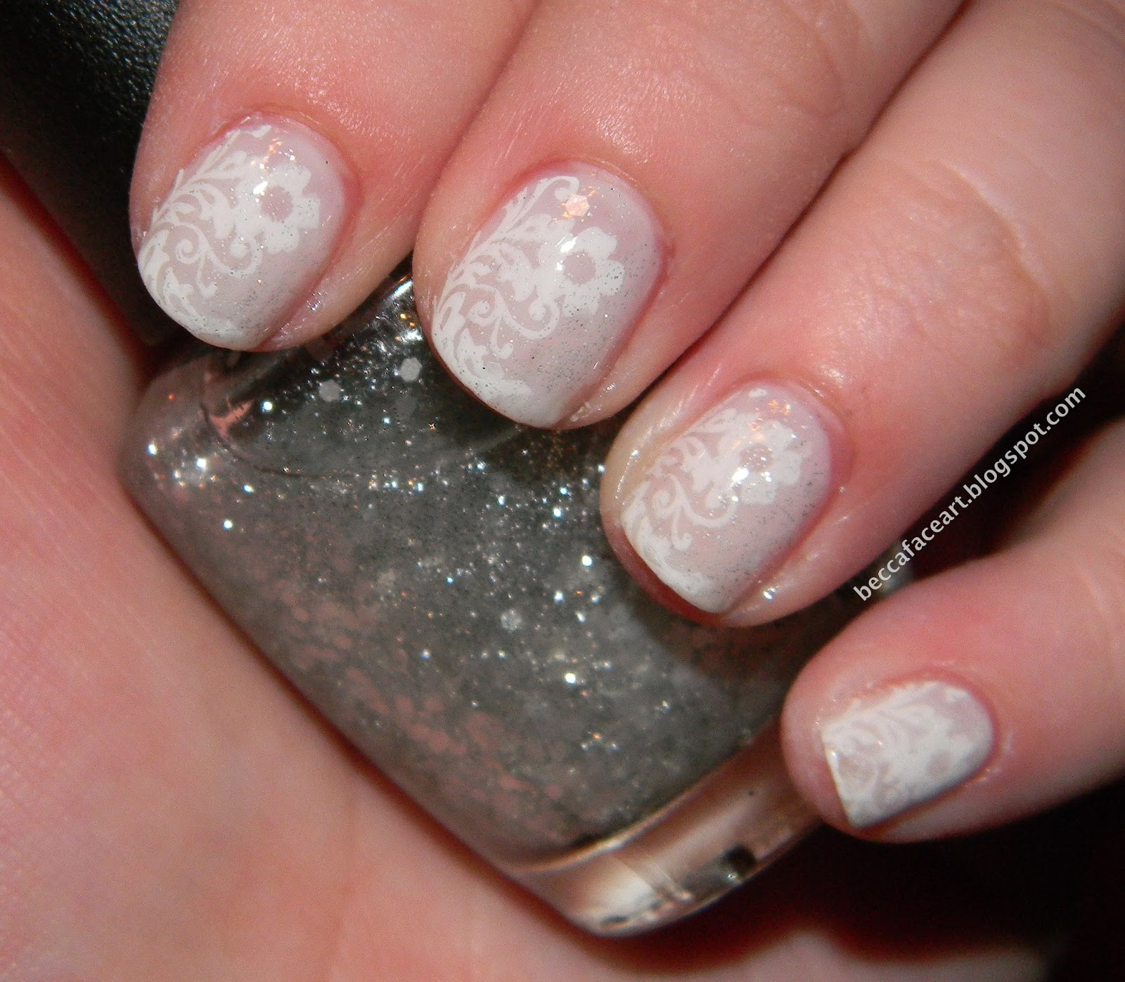 Becca Face Nail Art Delicate Flower Nails