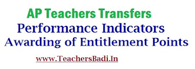 AP Teachers Transfers,Performance Indicators, Entitlement Points